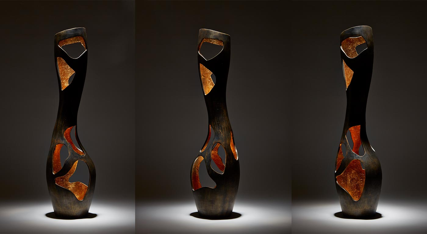 This is not a vase | Bronze and gold leaf