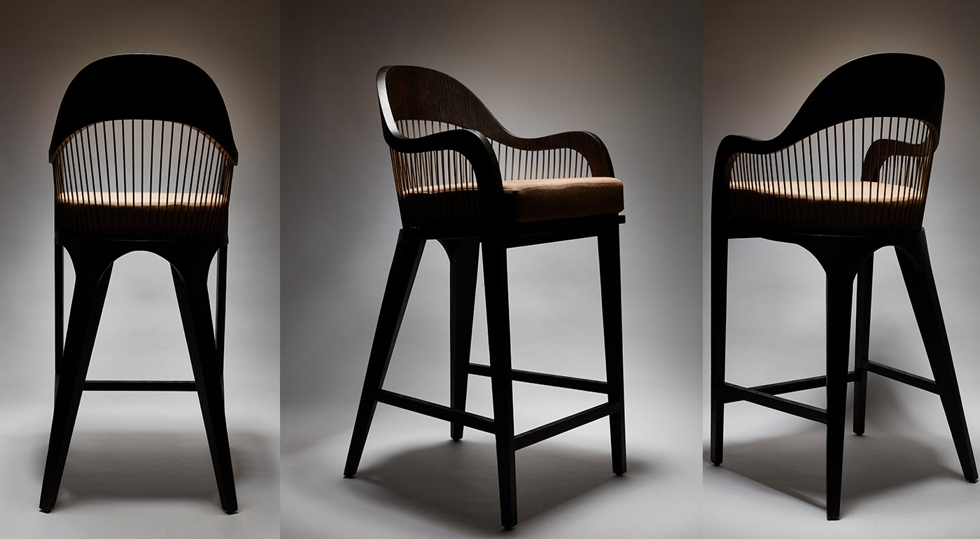 Lanka armchair reda amalou design furniture and design - Chaise haute de bar ...