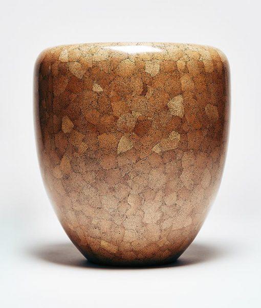Dot dark brown eggshell